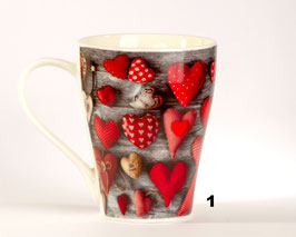 Herzchen Tasse 3 Motive