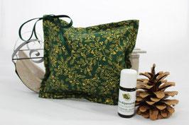 Zirben-Set Weihnachten: Zirbenkissen 15x15 und 10 ml Bio-Zirbenöl