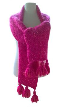 Maxi Schal in Pink - extra große Maschen