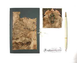 Set Ufficio Terra Bruma: Diario + Notebook + 2 Penne