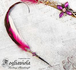 Penna d'oca dal fiore viola
