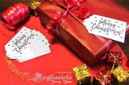 Etichette Merry Christmas (10pz)