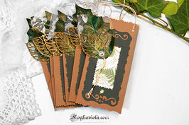 Enchanted Garden Deluxe Set: Tags + Mollette (6+6 pz)