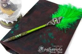 Penna con Piuma Serpeverde