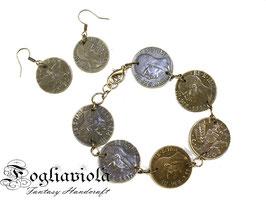 Parure con monete del 1942 - 1943