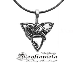 Collana Celtic Cat