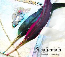 Penna Calligrafica Rosa - Verde