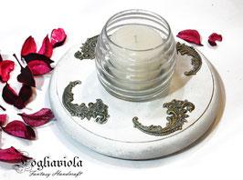 Porta candela + Candelotto al Gelsomino da Altare