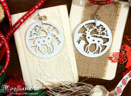 Deer Card con Decoro in Ferro