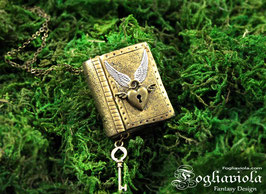 Tiny Book Pendant: Golden Light