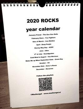 2020 Calendar Rock Musicians