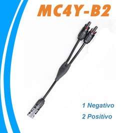 Conector flexible Doble MC4 Multicontact 1 negativo 2 positivo