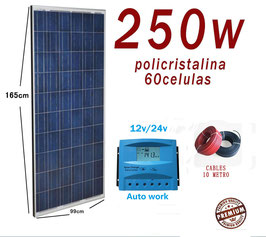 Kit Solar 24v 250w Hora Regulador 20a con LCD