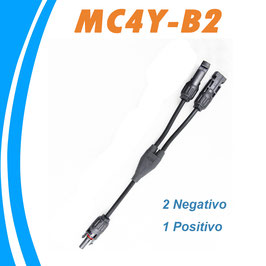 Conector flexible Doble MC4 Multicontact 2 negativo 1 positivo