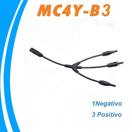 Conector flexible Triple MC4 Multicontact 1 negativo 3 positivo