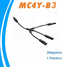Conector flexible Triple MC4 Multicontact 3 negativo 1 positivo
