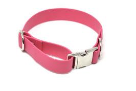 Halsband & Leine aus Biothane pink