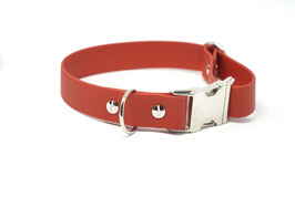 Halsband & Leine aus Biothane rot