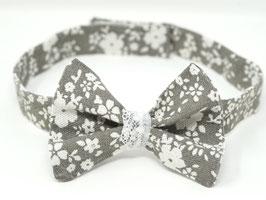 Hundemasche Vintage grau/weiß