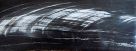 """Plaque de Corne de Buffle couleur """"Ebène strié"""" 165mm X 60mm épaisseur 6mm"""