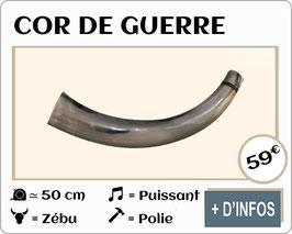 Cor de guerre en zébu poli 50cm