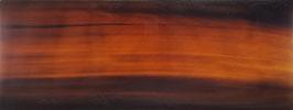 """Plaque de Corne de Buffle couleur """"Acajou"""" 165mm X 60mm épaisseur 6mm"""