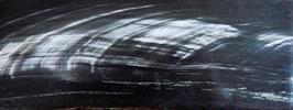 """Plaque de Corne de Buffle couleur """"Ebène strié"""" 165mm X 60mm épaisseur 8mm"""