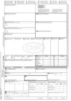 100 CMR internationae Frachtbriefe für Laserdrucker und Tintenstrahldrucker