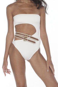 BARE BELT MONOKINI OFF-WHITE