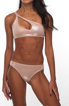 CAMEL ONE SHOULDER BIKINI TOP