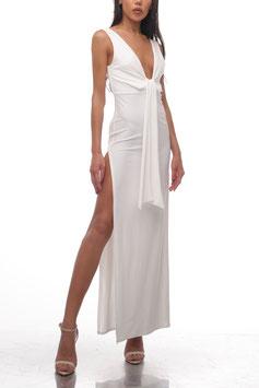 OFF WHITE SLIT DRESS