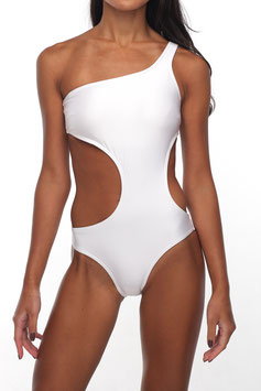 OFF-WHITE ONE SHOULDER MONOKINI
