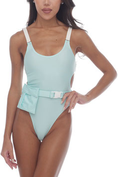 MINT  SAFARI BELT POCKET MONOKINI