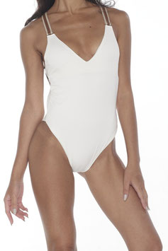 OFF-WHITE BACK CROSS BELT MONOKINI