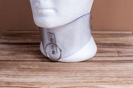 Halskorsett extrabreit aus transparenten PVC