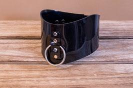 Halskorsett extrabreit aus schwarzem 3mm PVC