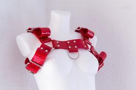 Brust Harness, Brustgeschirr aus rotem PVC