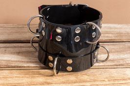 XXL Halsband 9cm breit aus schwarzem PVC