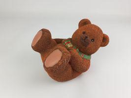 Spardose Teddybär liegend