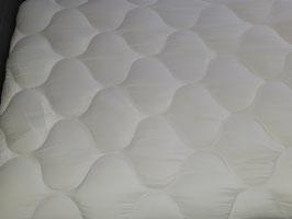 Matratzenschoner, Unterbett, Weiß, 95 x 200cm, Wolkensteppung