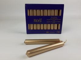 Baumkerzen GOLD, 5 Packungen á 20 Kerzen
