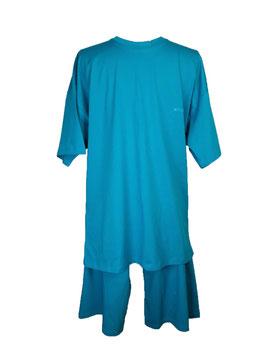 ATHENA  Herren Pyjama, Schlafanzug, Kurz, Farbe Adriatic