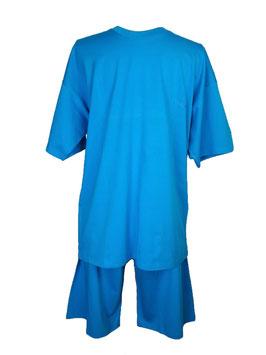 ATHENA Herren Pyjama, Schlafanzug, Kurz, Farbe Aqua