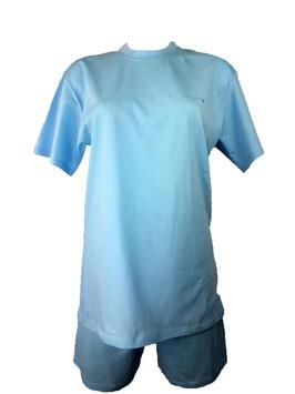 Pyjama Damen, Schlafanzug kurz, Farbe Light Blue