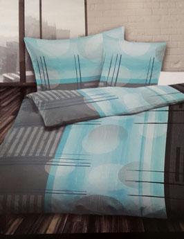 Satin Bettwäsche TOP MARKE LOTUS SWISS Design Miyu Blau