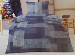 Bettwäsche Seersucker MARKE FLAIR Janins blau