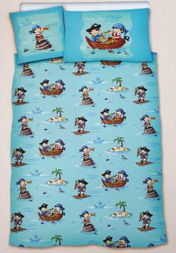 Jugend- und Baby Bettwäsche Dessin Piratenschatzinsel