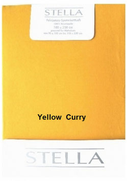 "Jersey - Fixleintuch für Boxspringbetten  ""Yellow Curry"""