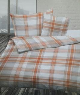 Baumwoll Bettwäsche  XXL Dessin Dessin Echo Orange ( EXTRA GROSS ) für King Size Betten