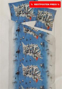 Baumwoll Bettwäsche Dessin Love Grafitti > AKTION <